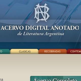 Acervo digital anotado de literatura argentina